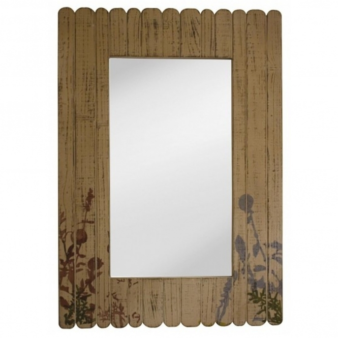 Flora and Fauna Wood Mirror