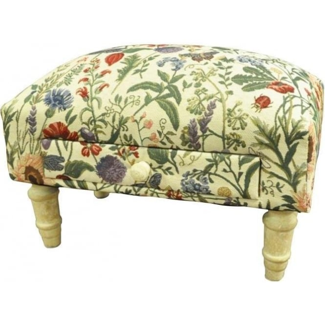 Floral Design Footstool