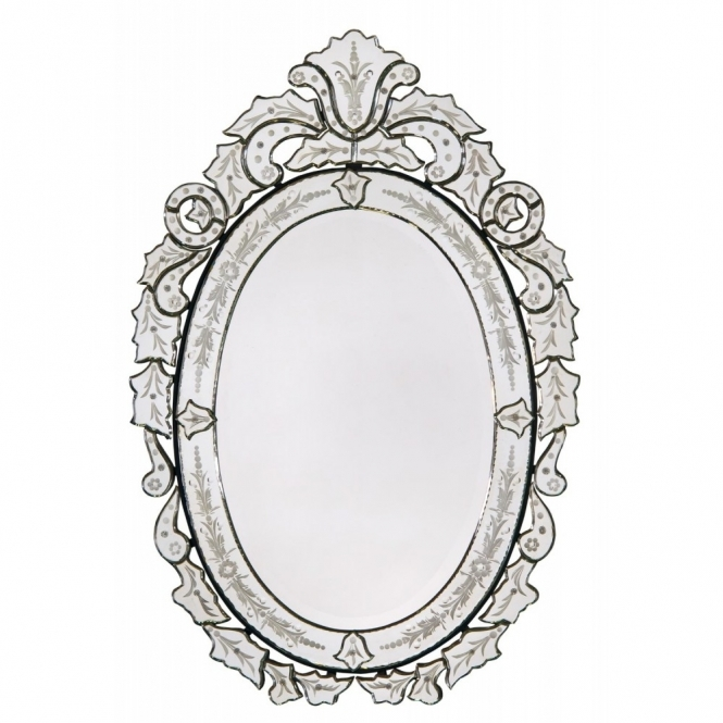 Floral Wreath Venetian Mirror