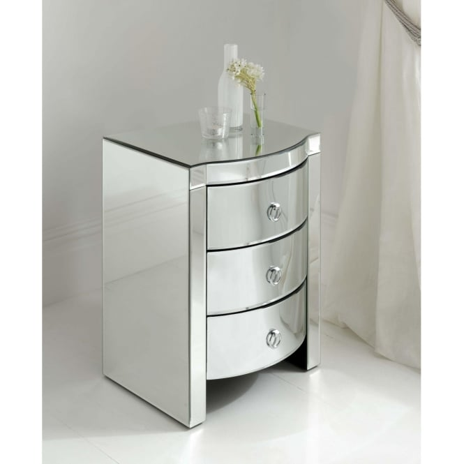 Mirrored bedside tables bedroom furniture for Furniture 365 direct