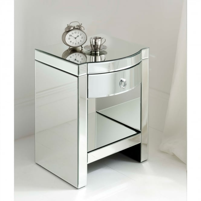 Florence Mirrored Bedside & Shelf