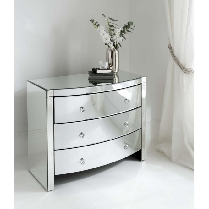 Florence Mirrored Chest 3 Drawer