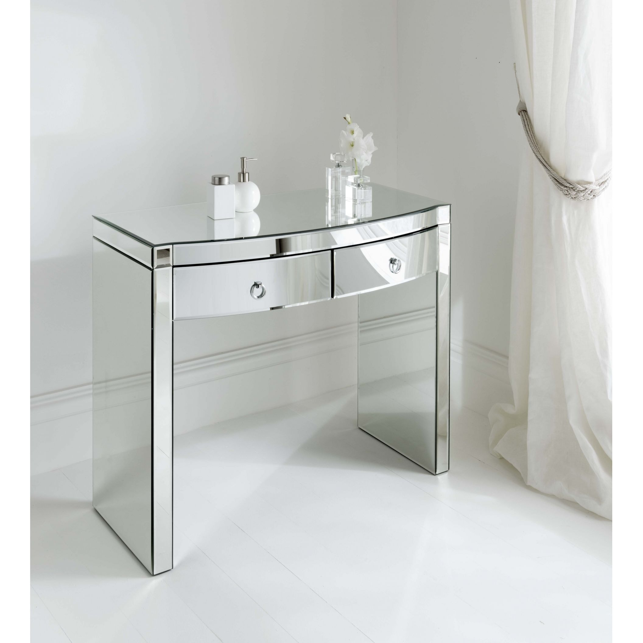 mirrored table zoom dressing florence set