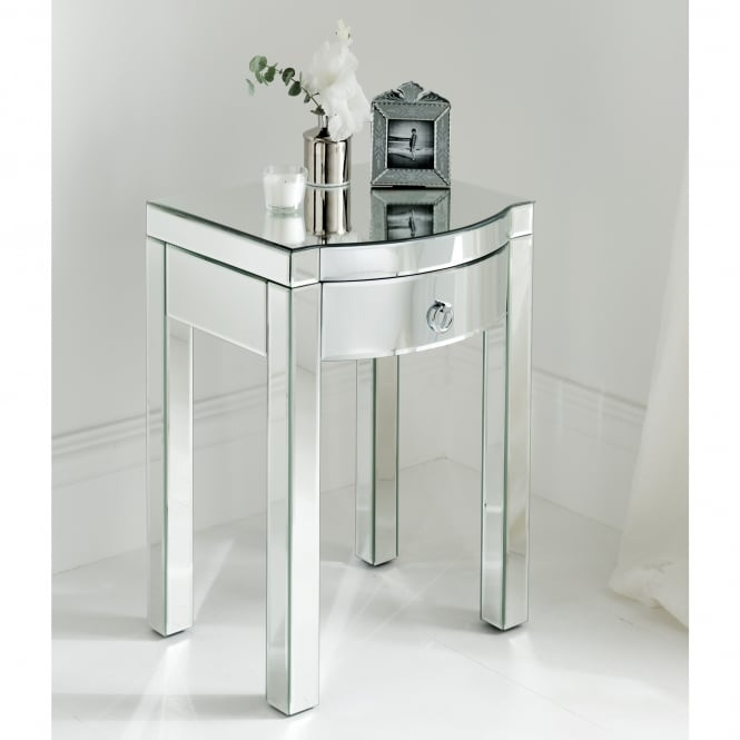 Florence Mirrored Side Table