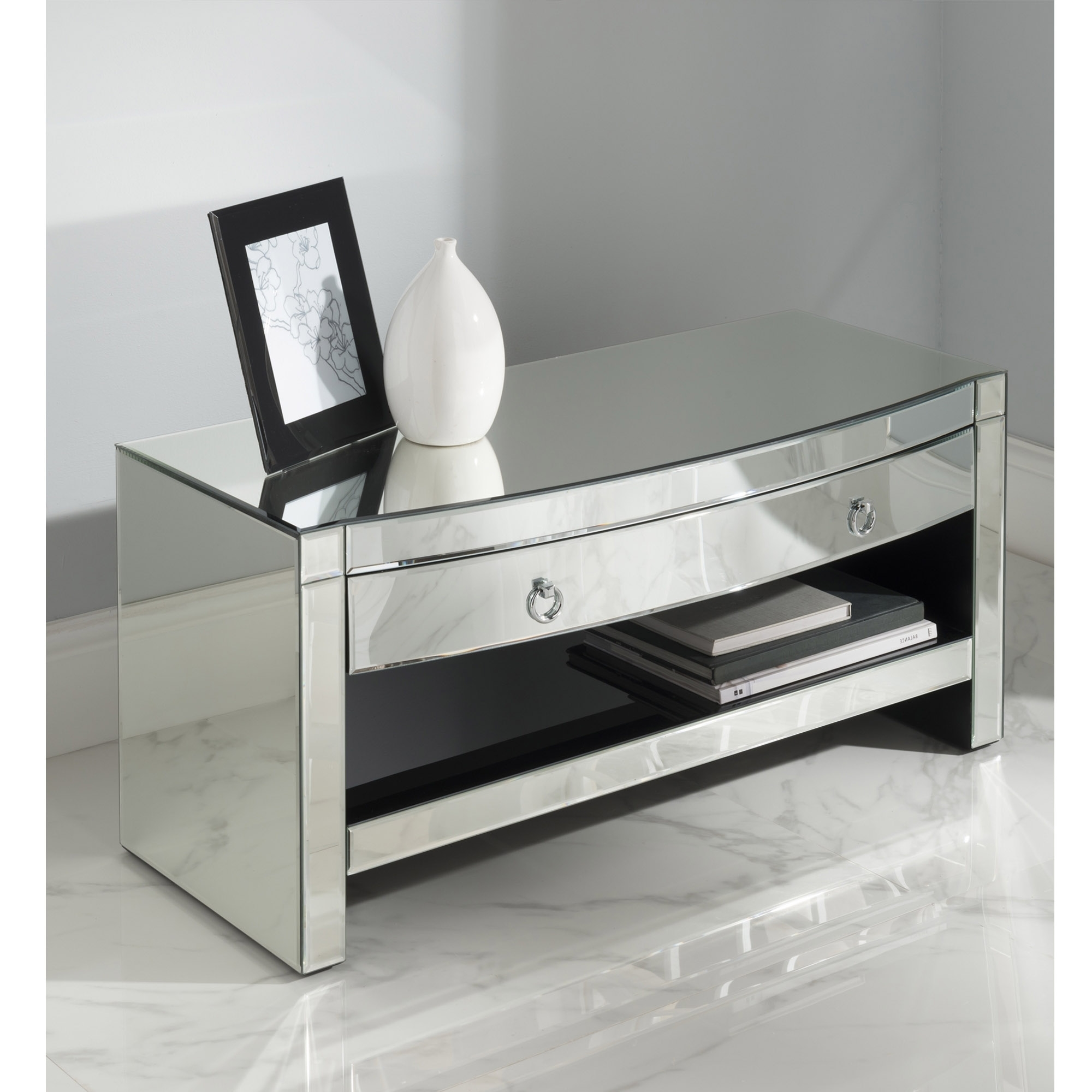 Charmant Florence Mirrored TV Cabinet