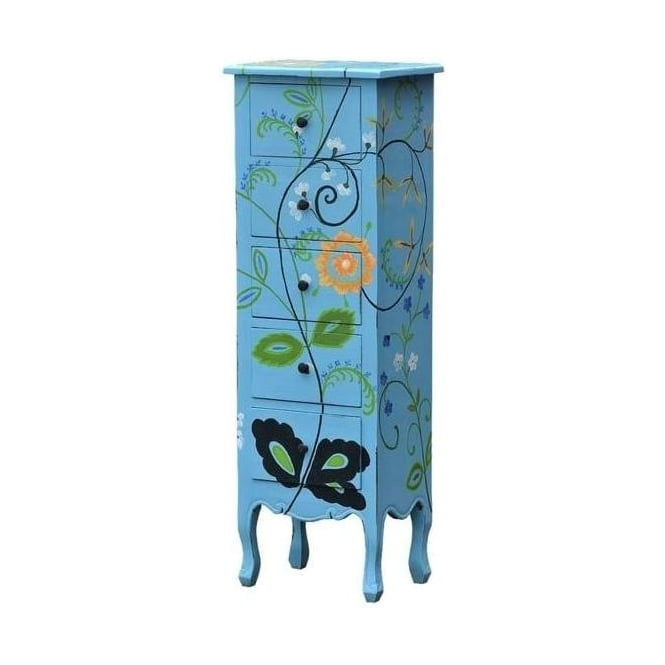 Flower Antique French Style Tallboy
