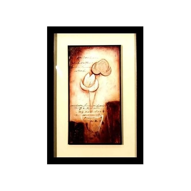 Flower Script Framed Picture