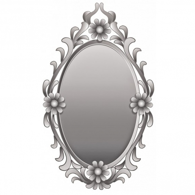 Flowers Oval Wall Mirror