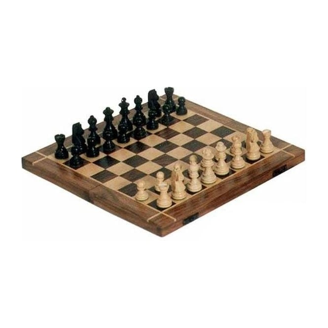 "Folding Chess Board with Pieces (16"")"
