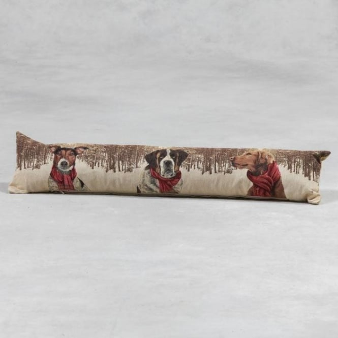 Forest Dogs With Scarves Draft Excluder