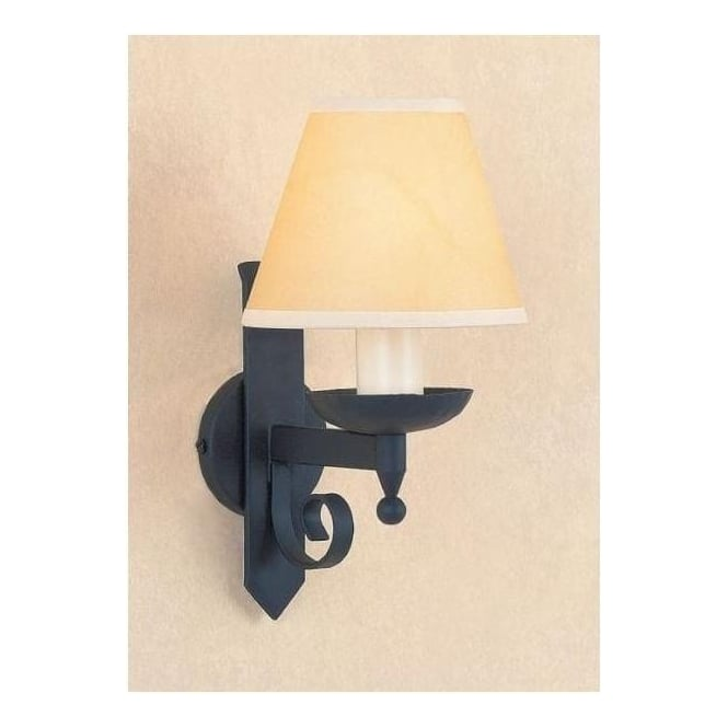 Forge Antique French Style Matt Black Wall Light 2