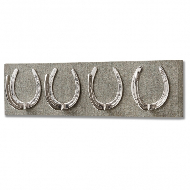 Four Horseshoe Coat Hooks