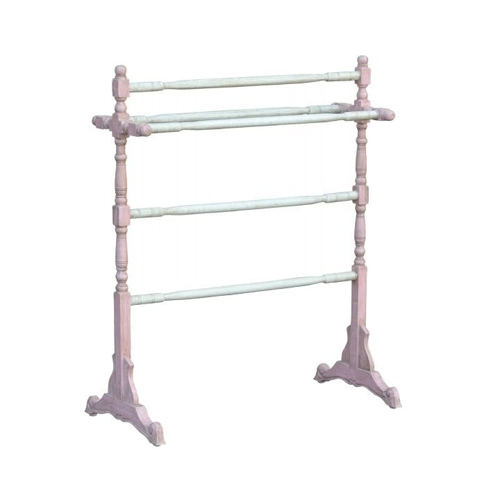 Free standing shabby chic towel rail bathroom furniture for Shabby chic towel stand