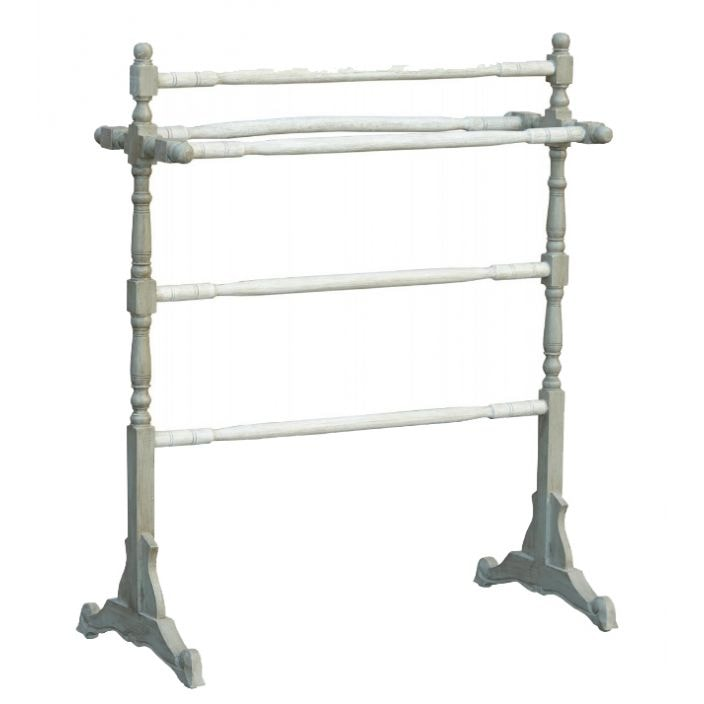 Free standing shabby chic towel rail french bathroom for Shabby chic towel stand