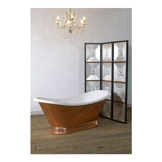 Freestanding copper bath bathroom furniture baths for Bathroom cabinets 70cm wide