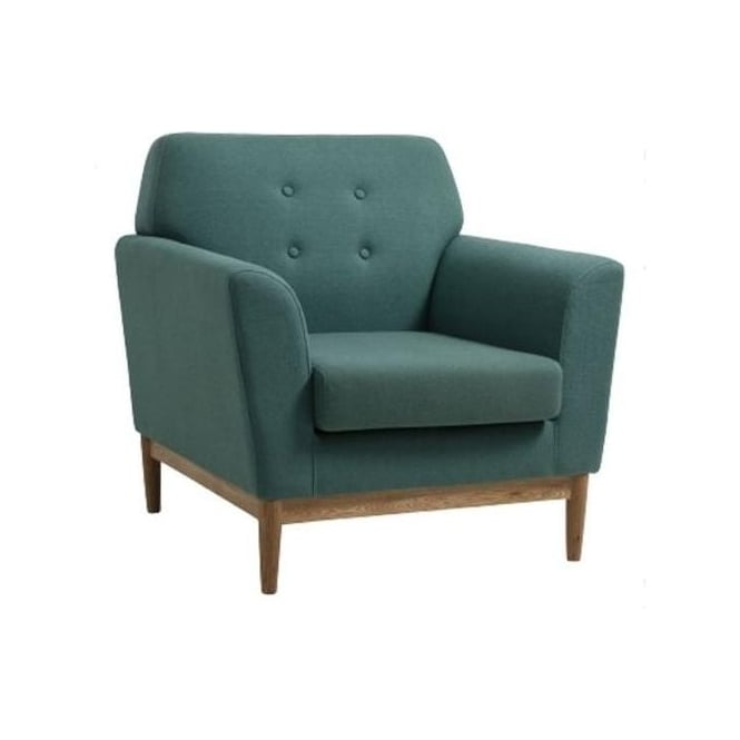 Fremont Teal Armchair