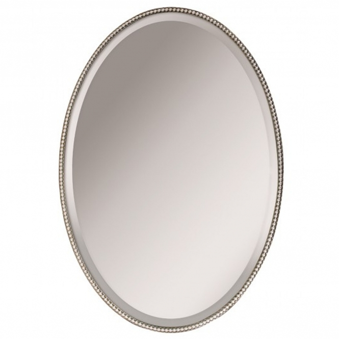 French-Antique Style Oval Mirror