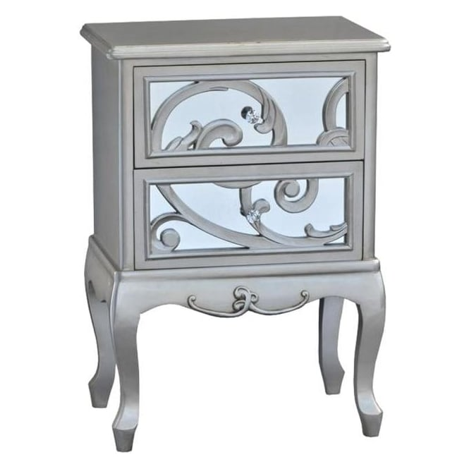 Fretted Antique French Style Bedside Table