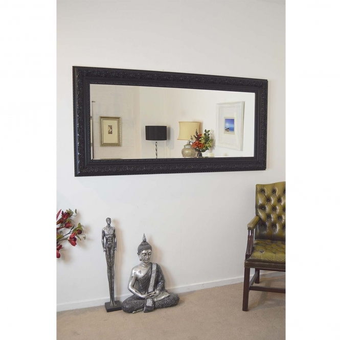 Full Length Black Antique French Style Mirror