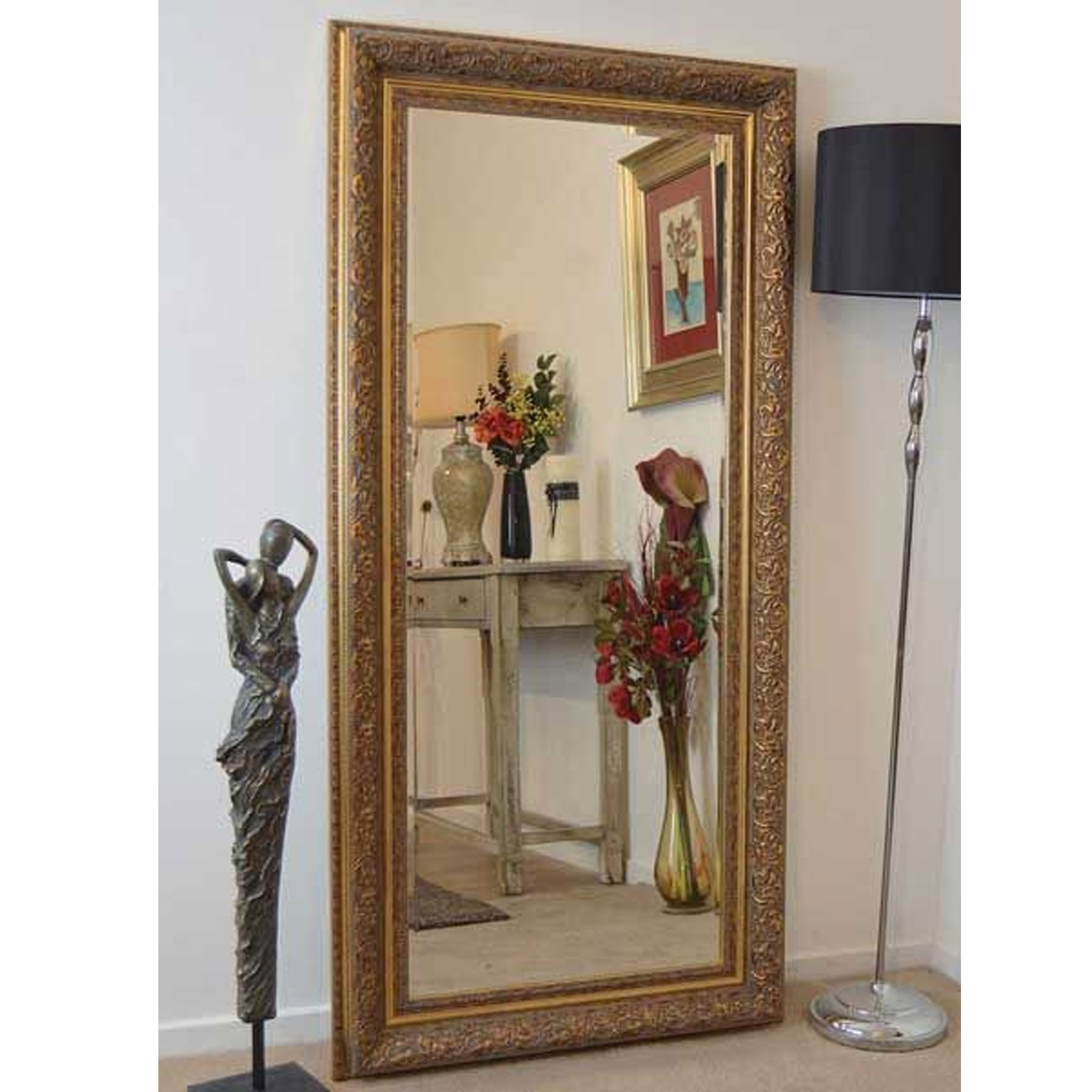 Full Length Gold Antique French Style Mirror Decorative Mirrors