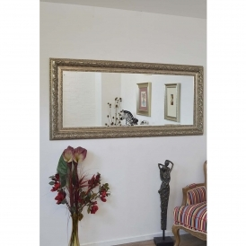 Full Length Silver Antique French Style Mirror