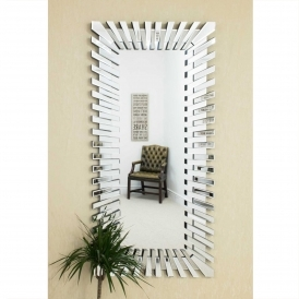 Full Length Starburst Frameless Venetian Mirror