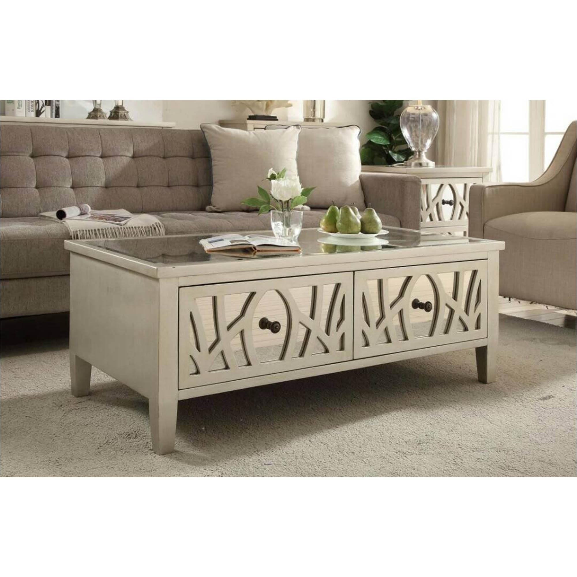 Empire Mirrored Coffee Table: Gallo Mirrored Coffee Table
