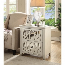 Gallo Mirrored Side Table