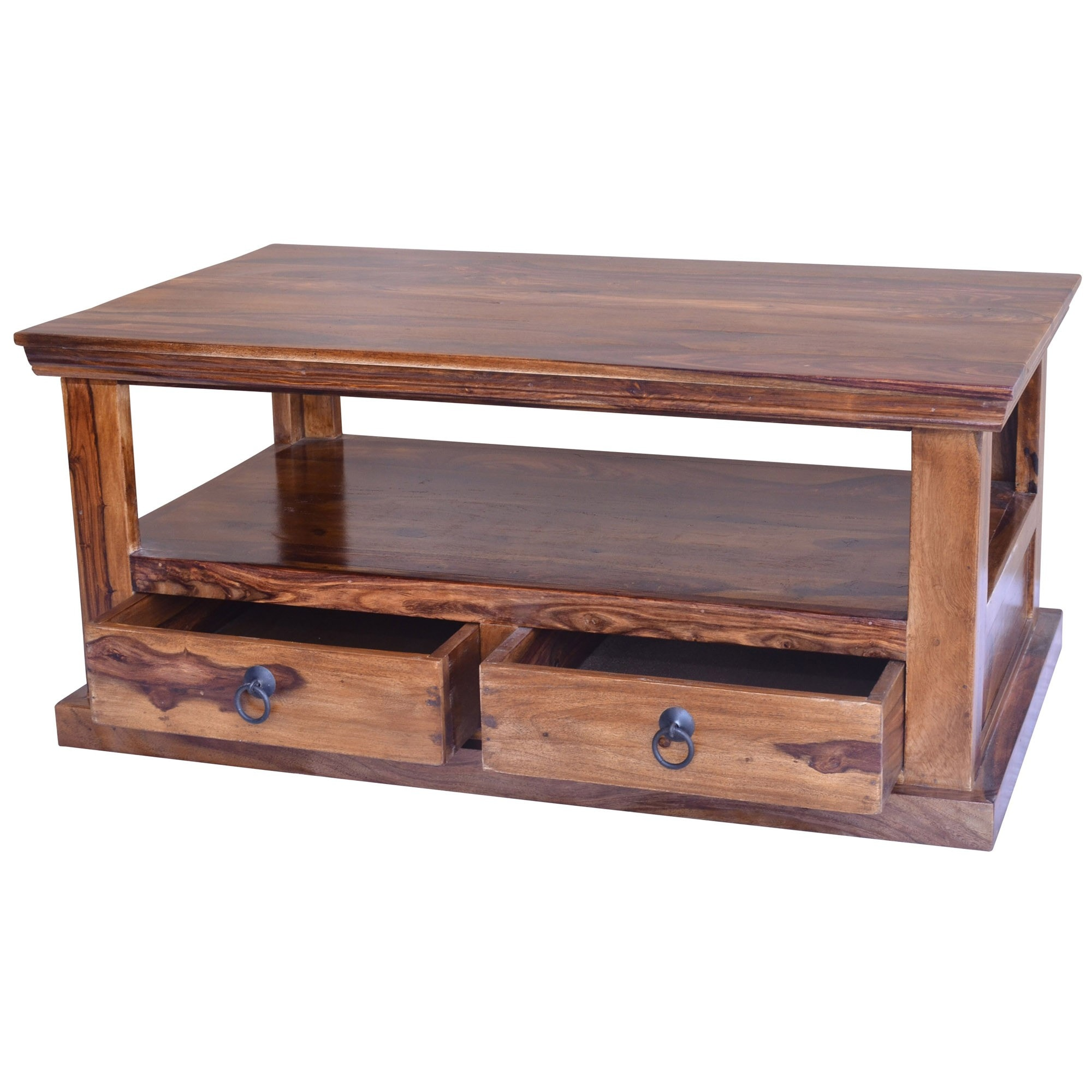 Ganga Coffee Table With Shelf Wooden Coffee Tables Coffee Tables