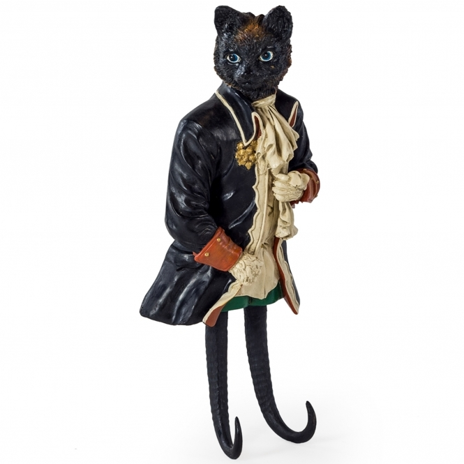 Gentry Dressed Cat Wall Hook