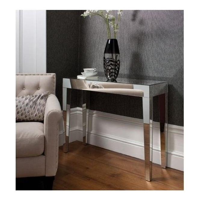 Geo Mirrored Console Table