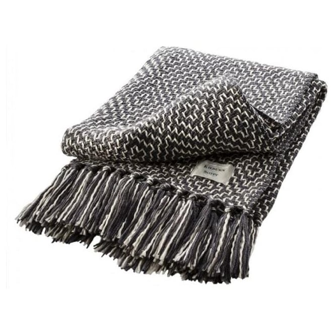 Geo Weave Throw Charcoal