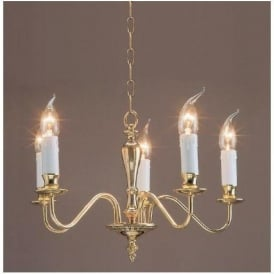 Georgian Brass Antique French Style Pendant Light