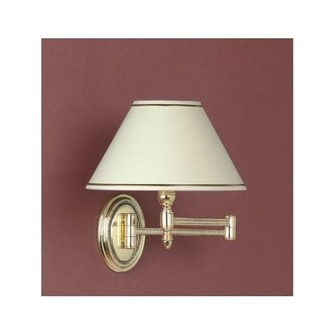 Georgian Silver Swing Arm Wall Light