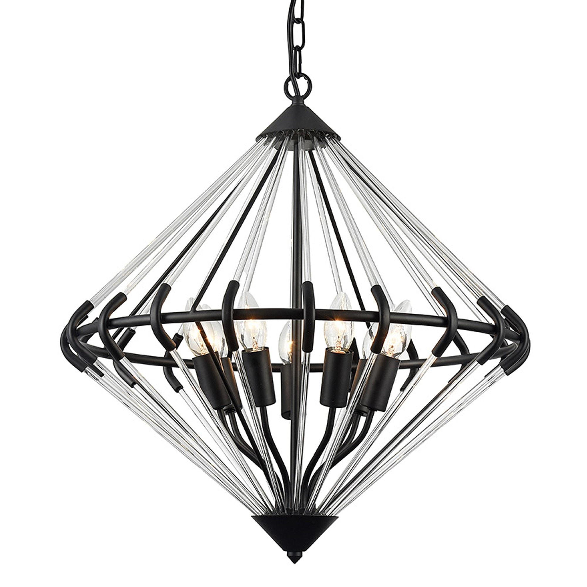 Gerda 7 Light Black Pendant Light Modern Pendant Light