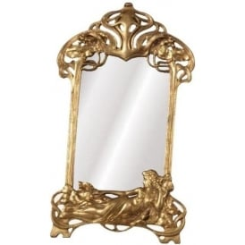Gilt Leaf Antique French Style Mirror
