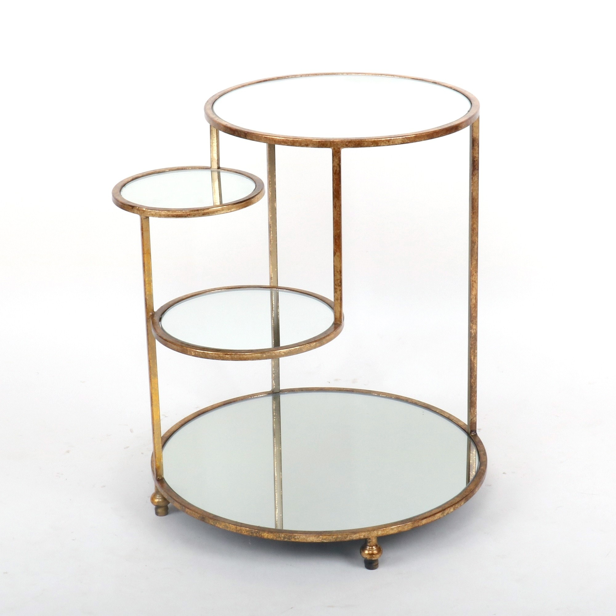 Picture of: 4 Tier Side Table Gold Side Table Shelving Display