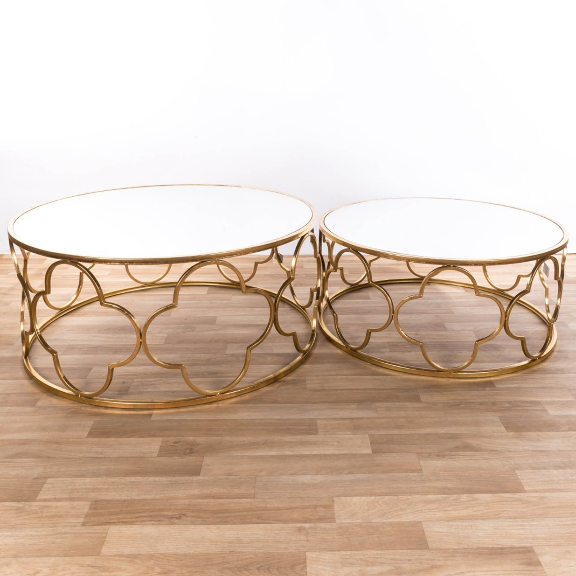 Gin Shu Gold Nest Of Tables Set Of Two