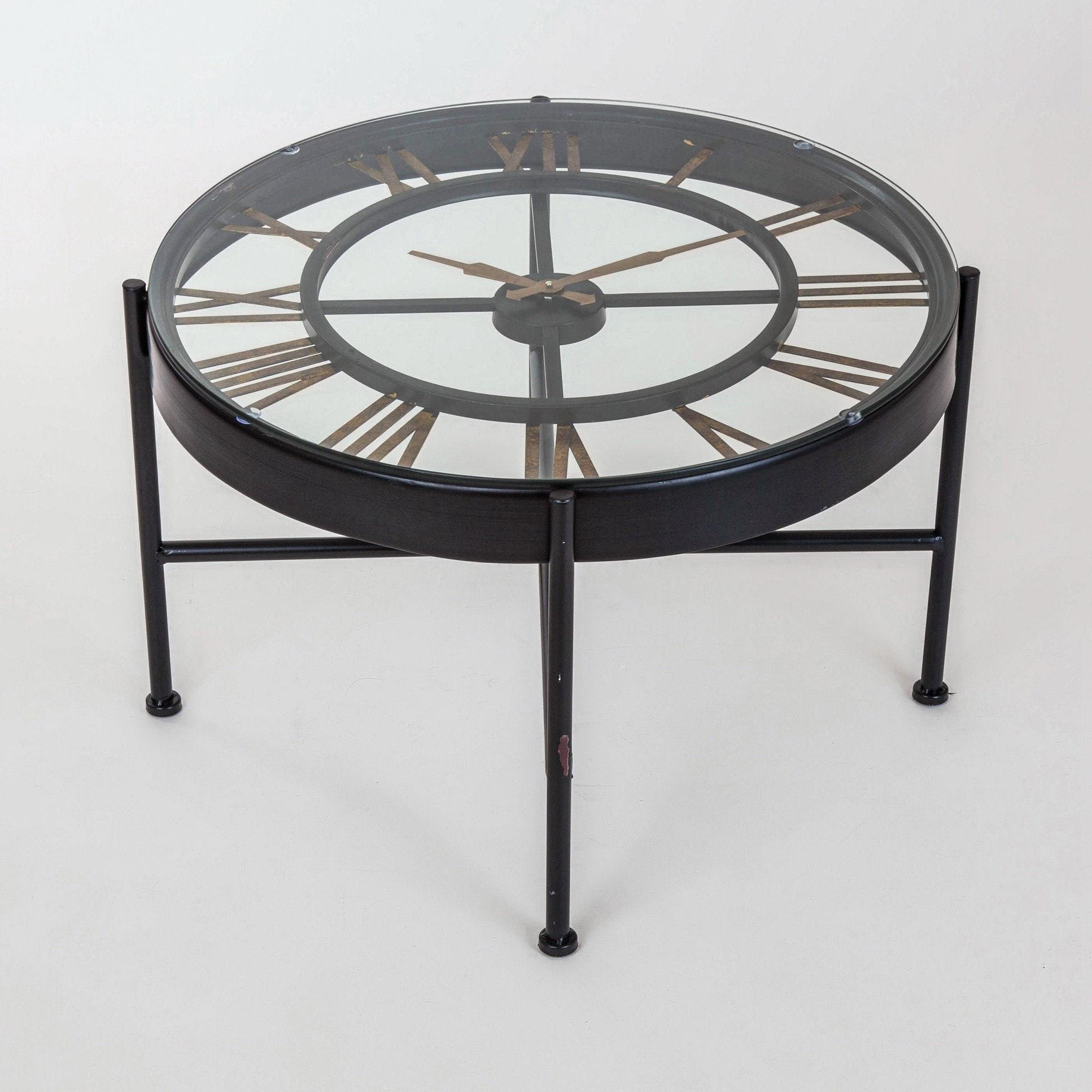 - Black Parisienne Coffee Table With Clock And Shelf|Fancy Coffee Tables