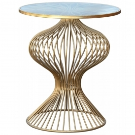 Gin Shu Parisienne Metal Side Table