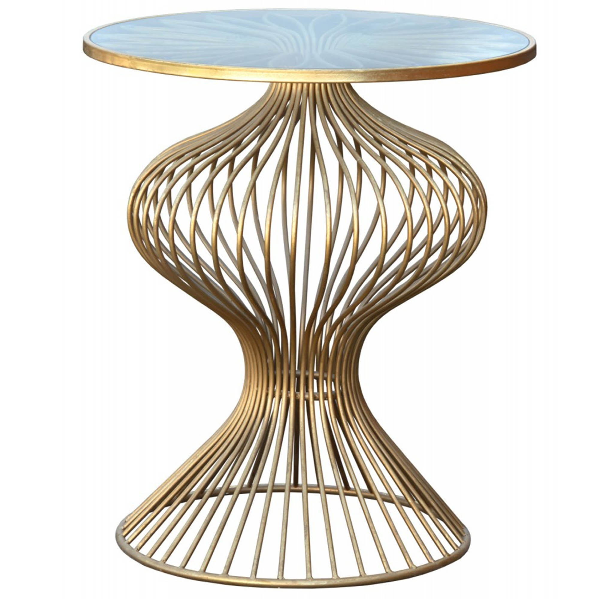 copper style vintage products rustic grande metal attic french side glass table allissias
