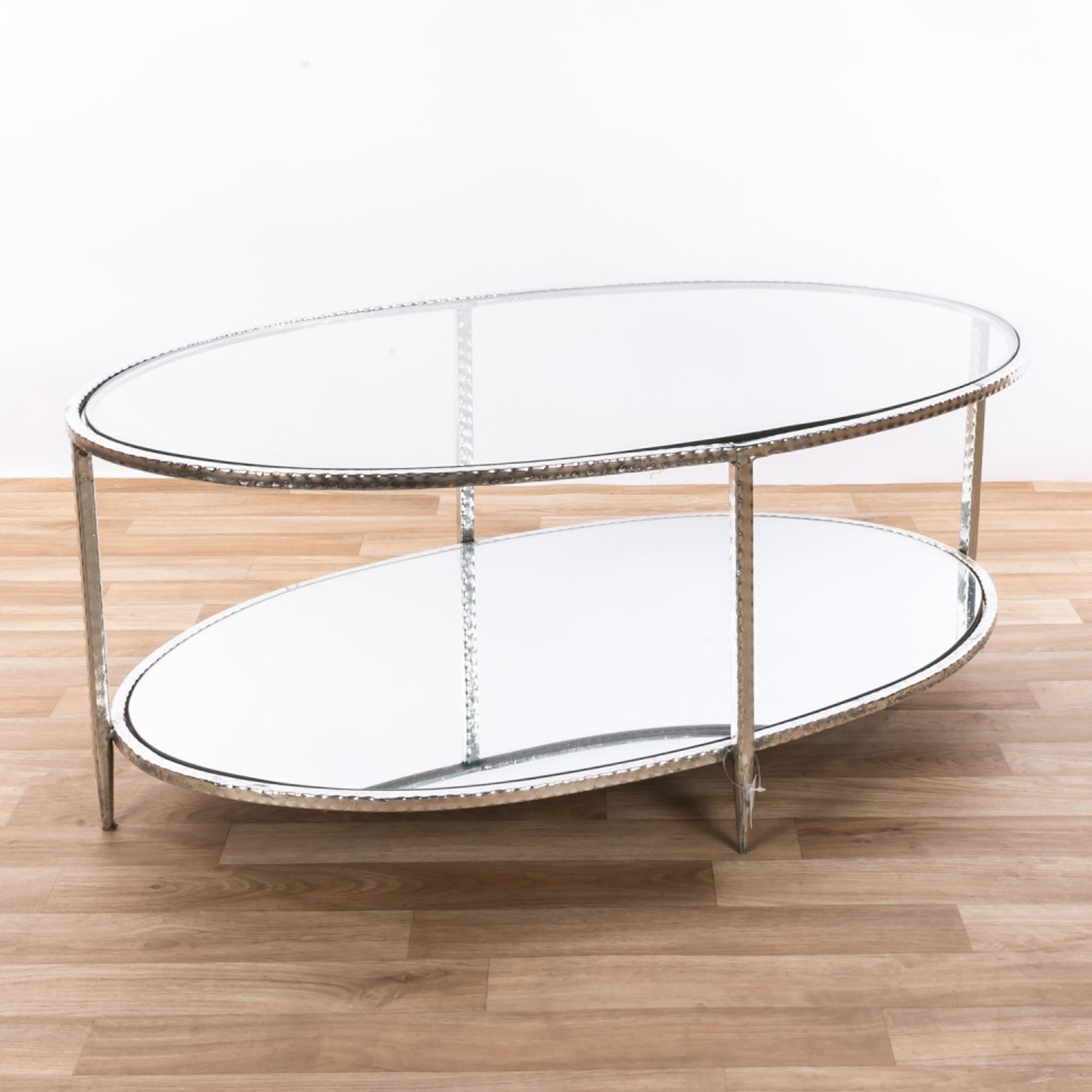 lowest price 5b08f dcc39 Gin Shu Silver Glass Coffee Table