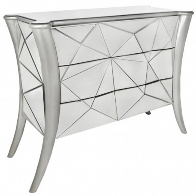 Glacier Mirrored Chest of Drawers