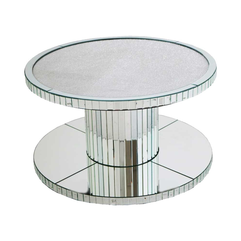 - Glamour Mirrored Round Coffee Table Modern Mirrored Coffee Table