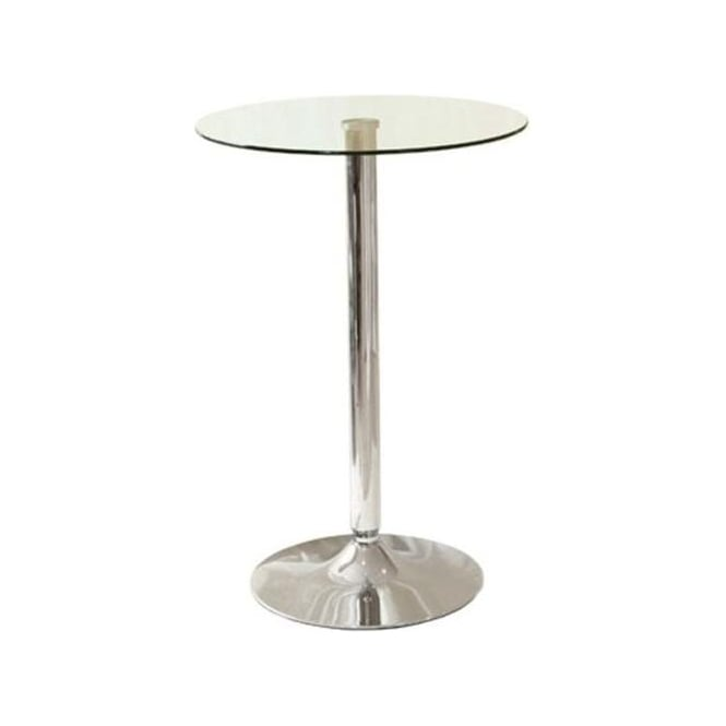 Glass Bistro Tall Side Table