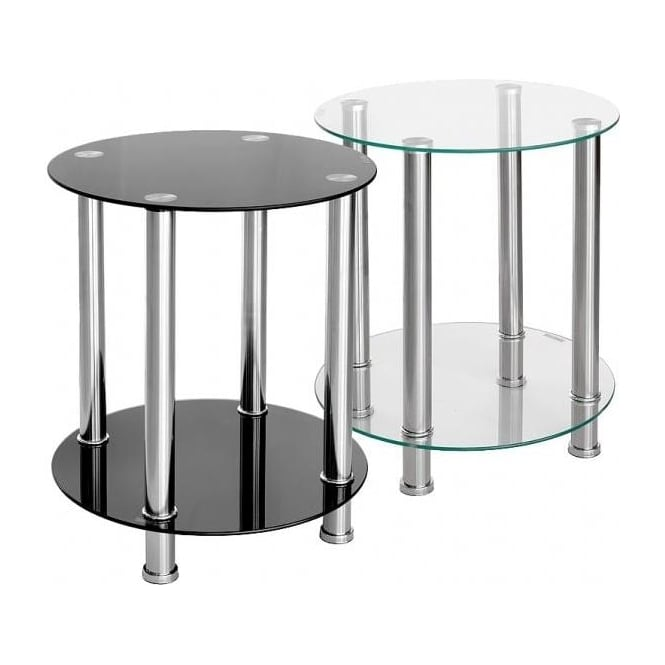 Glass Bobbin Side Table