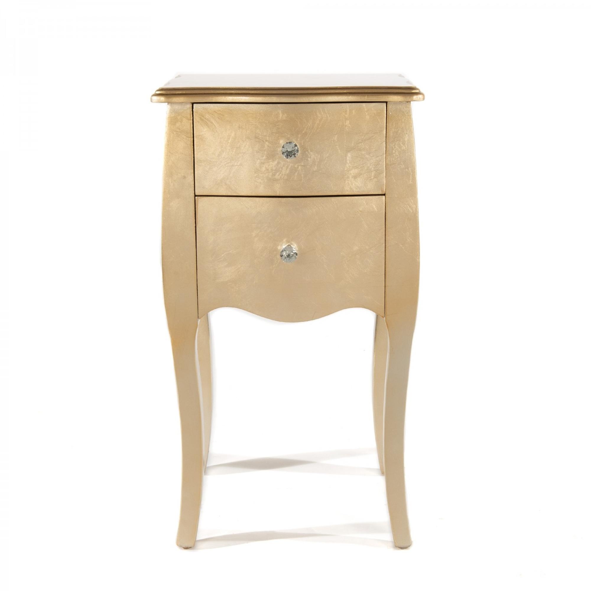 Gold Bedside Table 2 Drawer Gold Bedside Table Gold Table