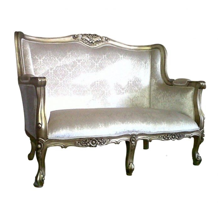 Gold antique french chaise for Antique style chaise