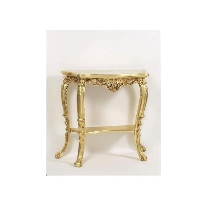 Gold Antique French Style Console Table