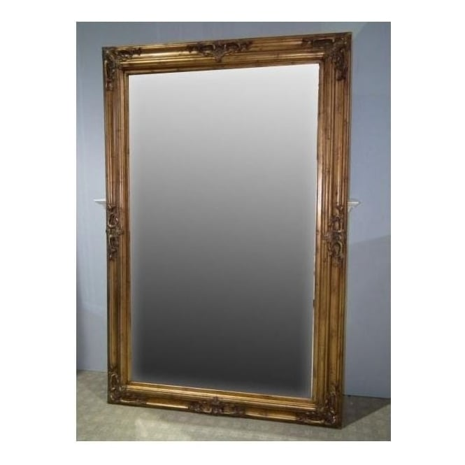 Gold Antique French Style Floorstanding Mirror